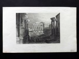 Finden works of Byron C1835 Antique Print. Rome - The Forum, Italy
